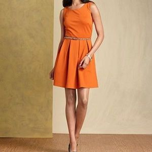 Tommy Hilfiger Sleeveless Belted A-Line Dress S